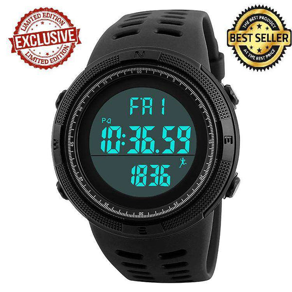 SKMEI DG1349 Black/Black with PU Strap Watch For Men