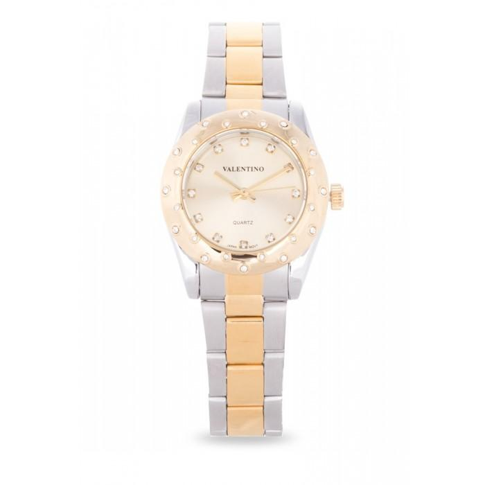 Valentino 20121973-TWO TONE - GOLD DIAL TWO TONE  STAINLESS BAND Watch For Women
