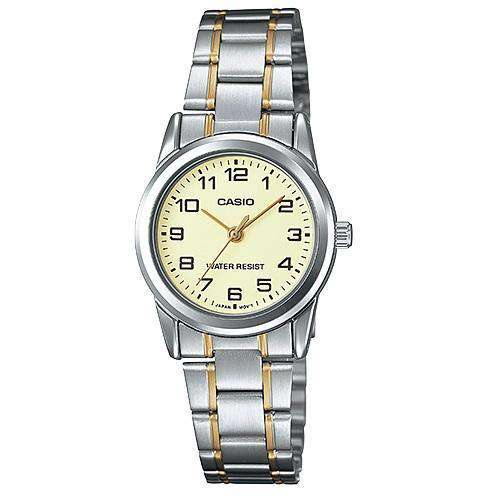 Casio LTP-V001SG-9B Two-tone Stainless Steel Watch for Women - Watchportal Philippines