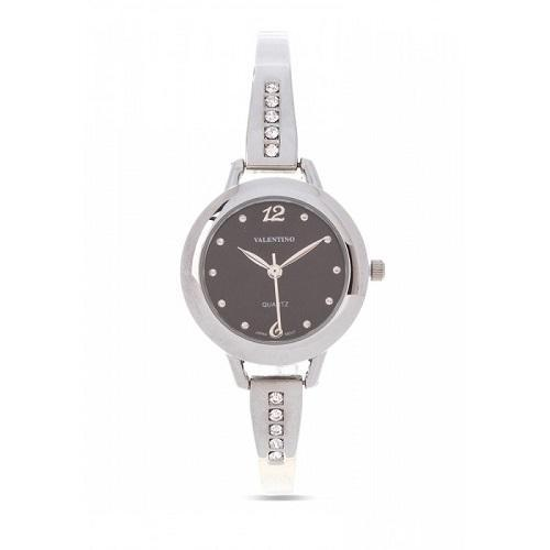 Valentino 20121982-BLACK SILVER FASHION METAL ALLOY STRAP Watch for Women