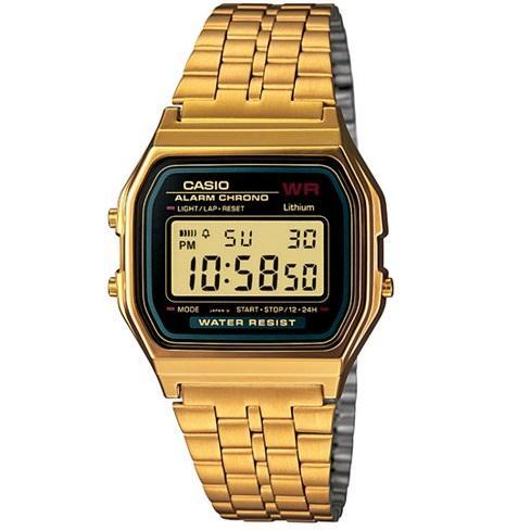 Casio Vintage A159WGEA-1D Gold Plated Watch for Men and Women