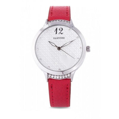 Valentino 20121967-RED -RED LEATHER STRAP Watch For Women