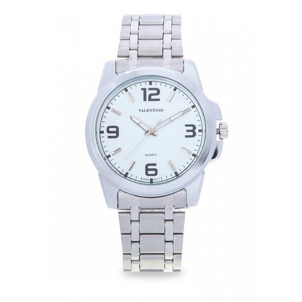 Valentino 20121954-WHITE SILVER STAINLESS BAND Watch For Men