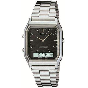 Casio Vintage AQ-230A-1DMQD Silver Stainless Watch For Men and Women