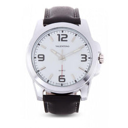 Valentino 20121950-WHITE BLACK LEATHER STRAP Watch For Men