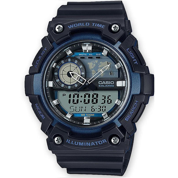 Casio AEQ-200W-2A Black Resin Strap Watch for Men - Watchportal Philippines