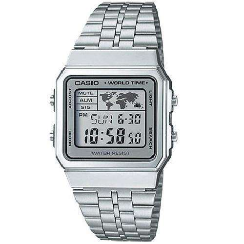 Casio Vintage A500WA-7D Silver Stainless Watch for Men and Women - Watchportal Philippines