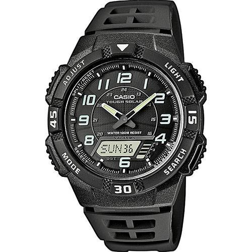Casio AQ-S800W-1B Black Solar Powered Watch for Men