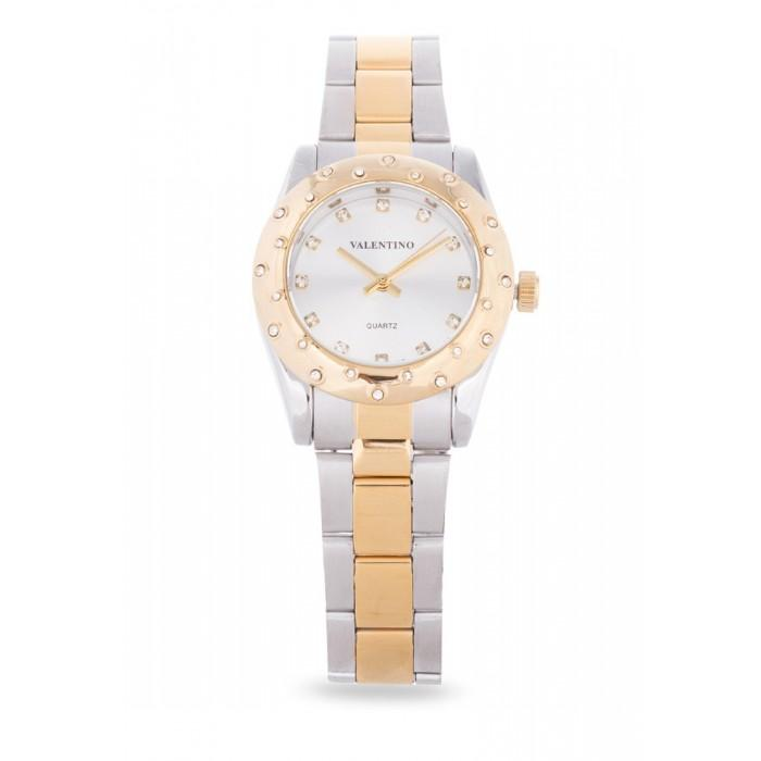 Valentino 20121973-TWO TONE - SILVER DIAL TWO TONE STAINLESS BAND Watch For Women