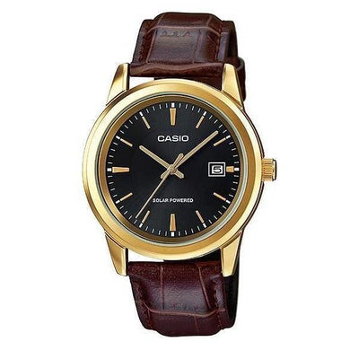 Casio MTP-VS01GL-1A Brown Leather Watch for Men - Watchportal Philippines