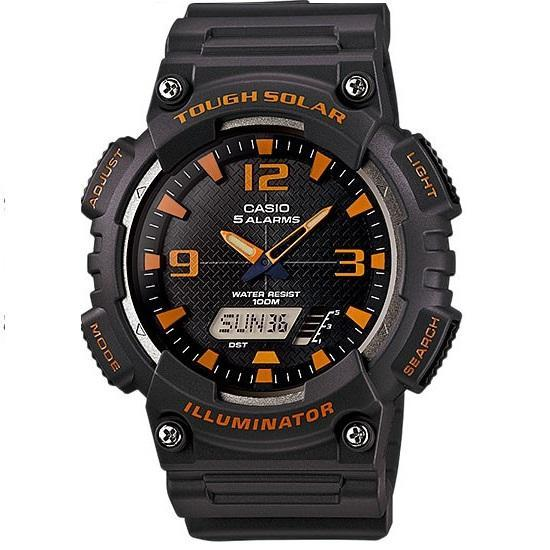 Casio AQ-S810W-8A Black Solar Powered Watch for Men - Watchportal Philippines