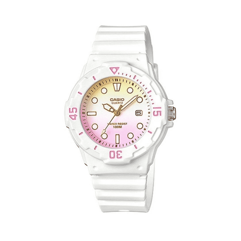 Casio LRW-200H-4E2VDF White Resin Strap Watch for Women