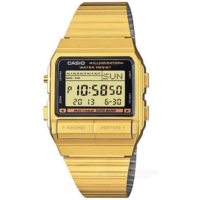 cb1cccb0478 Casio Vintage DB-380G-1D Gold Plated Watch For Men and Women