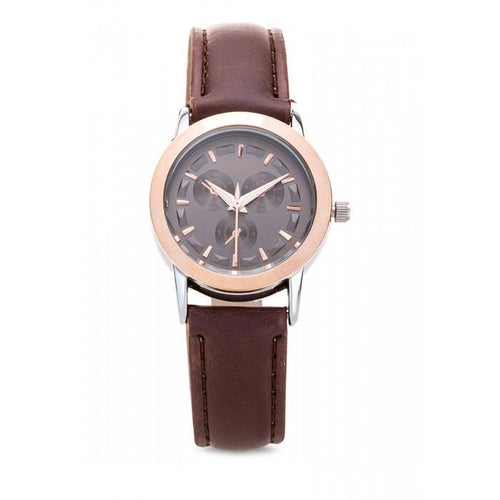 Valentino 20121934-RG RING - BROWN DIAL RADLEY LTHR IP STYLE LEATHER STRAP Watch