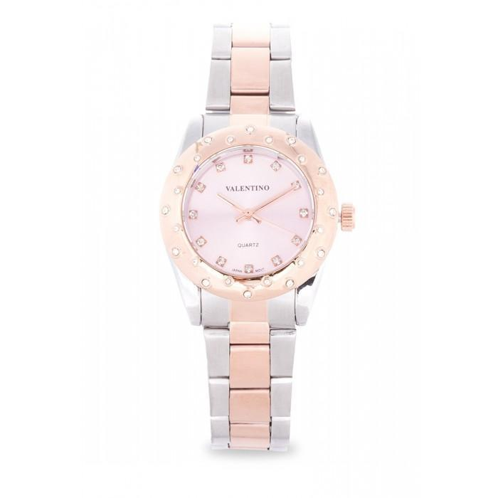 Valentino 20121974-TWO TONE - PINK DIAL TWO TONE STAINLESS BAND Watch For Women