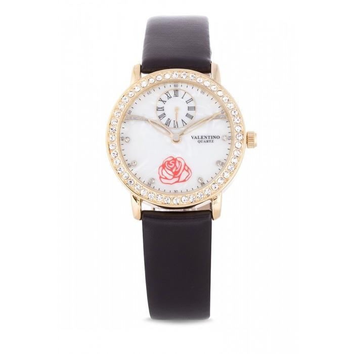 Valentino 20121964-BLACK - BLACK LEATHER STRAP Watch For Women