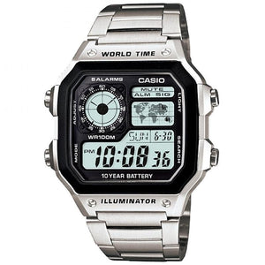 Casio AE-1200WHD-1A Silver Stainless Watch For Men