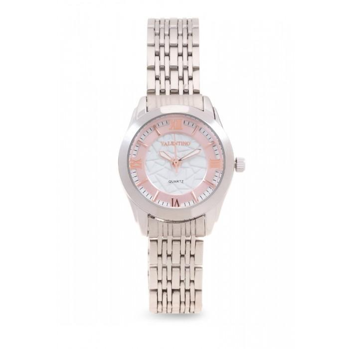 Valentino 20121914-Rose Dial Sta Barbara Mtl L Stainless Strap Watch For Women