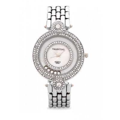 Valentino 20121885-SILVER DIAMOND IP CLASSIC FASHION METAL - ALLOY STRAP Watch for Women