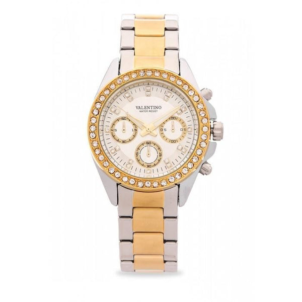 Valentino 20121502-TWO TONE - WHITE DIAL EXCALIBUR IP STAINLESS STEEL BAND STRAP Watch for Women