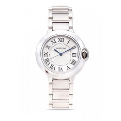 Valentino 20121920-Silver Dial Classic Cartier Mtl LPS Stainless Strap Watch For Women