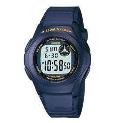 Casio Standard F-200W-2A Blue Resin Strap Watch for Men