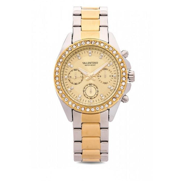 Valentino 20121502-TWO TONE - GOLD DIAL EXCALIBUR IP STAINLESS STEEL BAND STRAP Watch for Women
