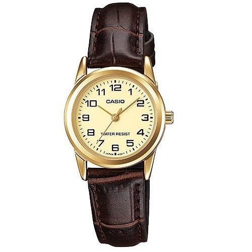 Casio LTP-V001GL-9B Brown Leather Watch for Women - Watchportal Philippines
