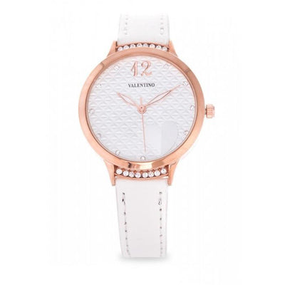 Valentino 20121966-WHITE - WHITE LEATHER STRAP Watch For Women