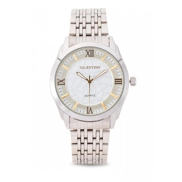 Valentino 20121913-Gold Dial Sta Barbara Mtl G Stainless  Strap Watch For Men