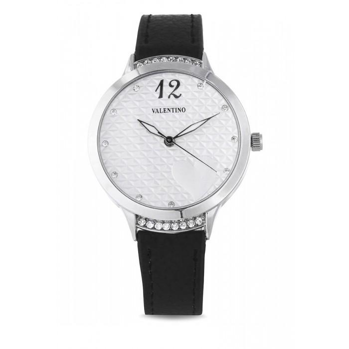 Valentino 20121967-BLACK - BLACK LEATHER STRAP Watch For Women