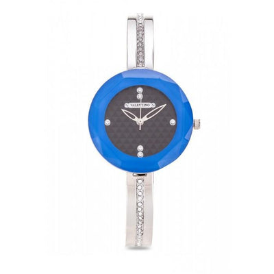 Valentino 20121898-SILVER - BLUE RING CJ IP LUXE FASHION METAL - ALLOY Strap Watch For WOMEN - Watchportal Philippines