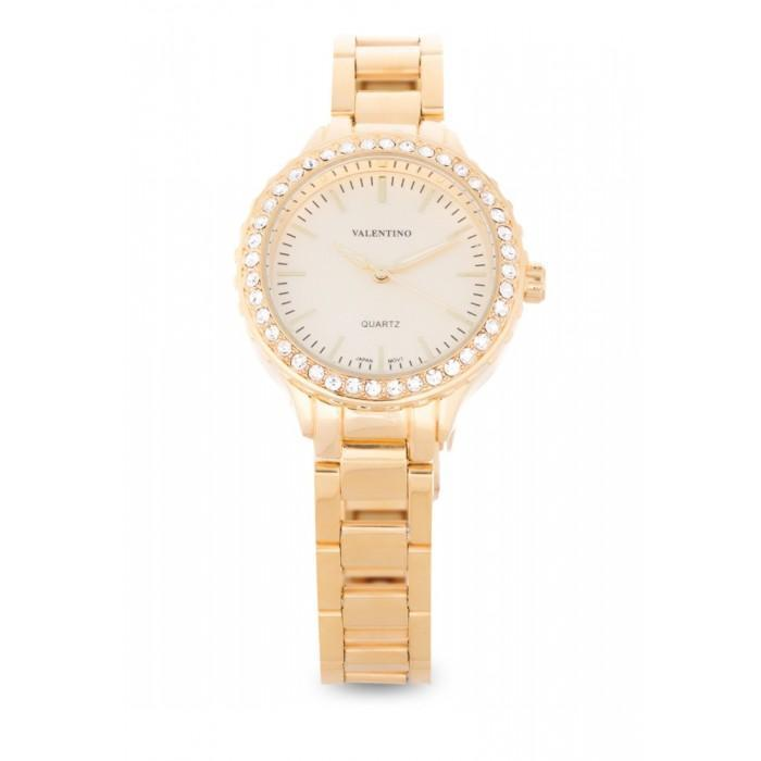 Valentino 20121959-GOLD - GOLD DIAL STAINLESS BAND Watch For Women
