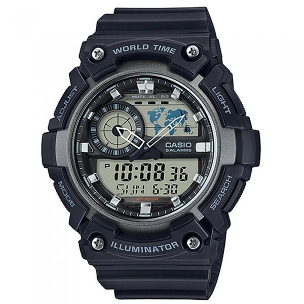 Casio AEQ-200W-1A Black Resin Strap Watch for Men - Watchportal Philippines