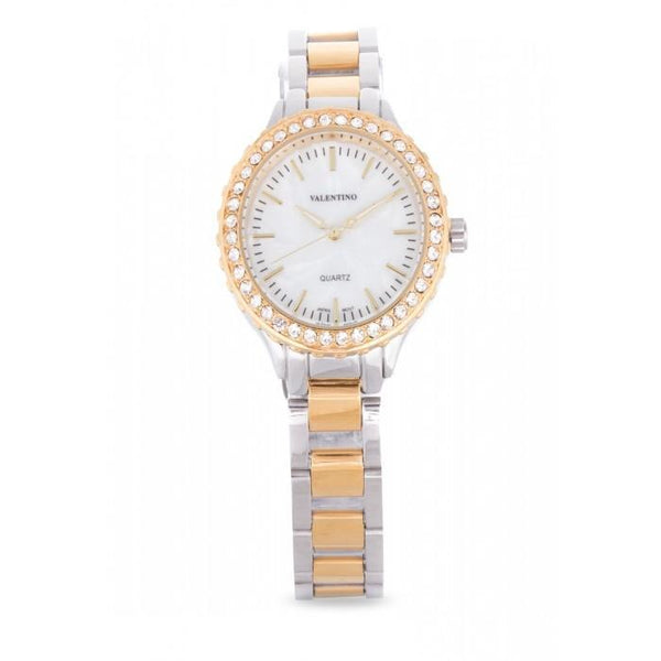 Valentino 20121959-TWO TONE - MOP DIAL STAINLESS BAND Watch For Women
