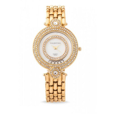 Valentino 20121885-GOLD DIAMOND IP CLASSIC FASHION METAL - ALLOY STRAP Watch for Women