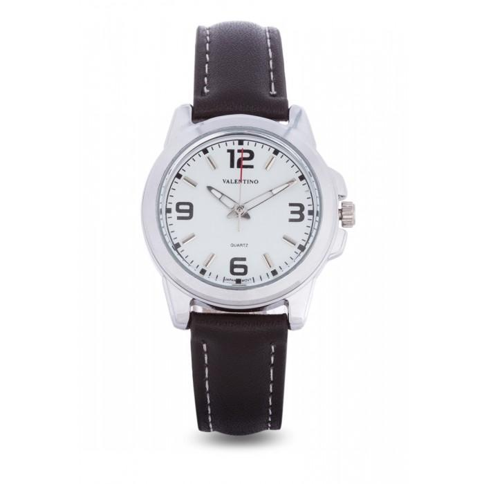 Valentino 20121951-WHITE BLACK LEATHER STRAP Watch For Women
