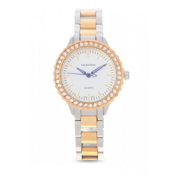 Valentino 20121959-TWO TONE - WHITE DIAL STAINLESS BAND Watch For Women