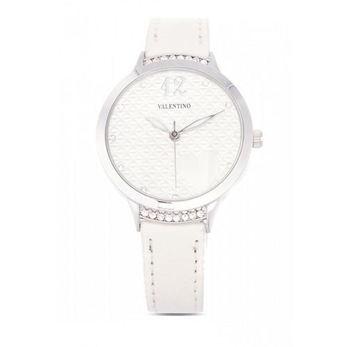 Valentino 20121967-WHITE- WHITE LEATHER STRAP Watch For Women