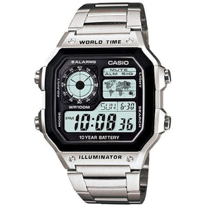 Casio AE-1200WHD-1AVDF Silver Stainless Watch For Men