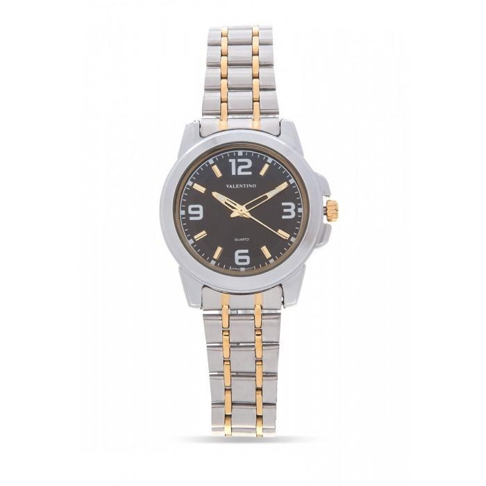 Valentino 20121953-TWO TONE - BLACK DIAL STAINLESS BAND Watch For Women