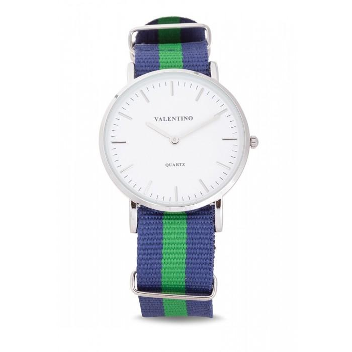 Valentino 20121903-DBlue Green Nylon Strap Watch For Men