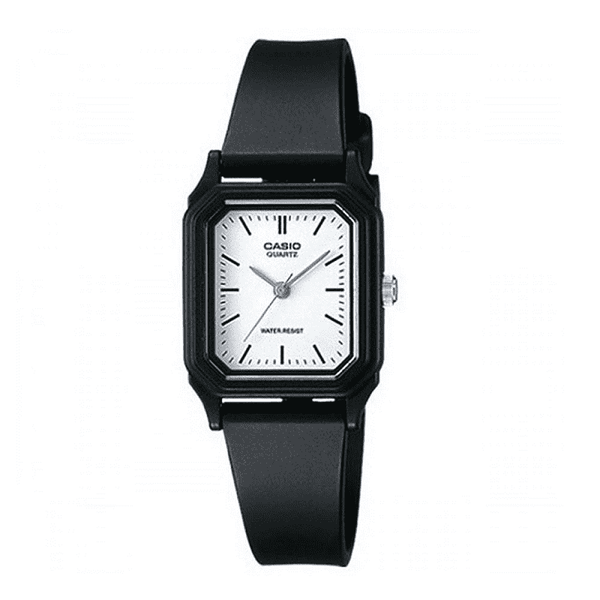 Casio LQ-142-7EDF Black Rubber Strap Watch for Women
