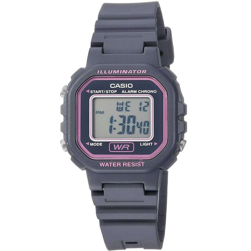 Casio LA-20WH-8ADF Grey Resin Strap Watch for Women
