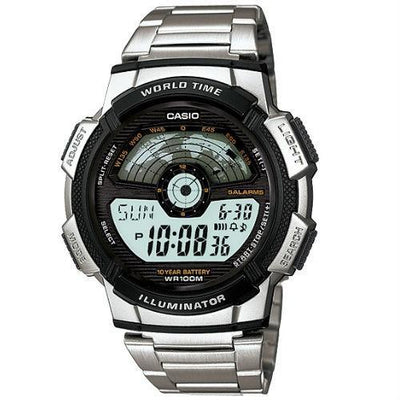 Casio AE-1100WD-1A Silver Stainless Watch For Men - Watchportal Philippines