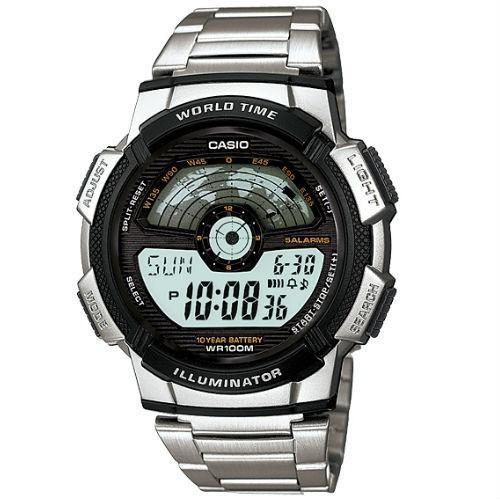 Casio AE-1100WD-1A Silver Stainless Watch For Men