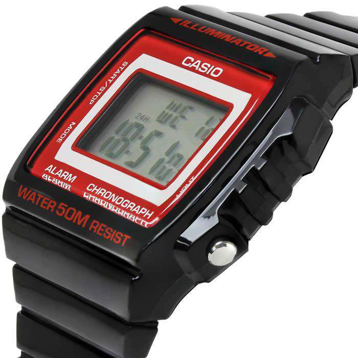 Casio W-215H-1A2 Black Resin Strap Watch for Men and Women - Watchportal Philippines