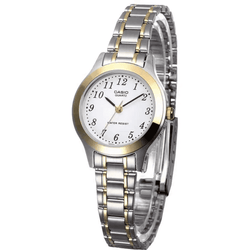 Casio Vintage LTP-1128G-7BRDF Silver & Gold Stainless Steel Strap Watch for Women