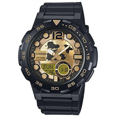 Casio AEQ-100BW-9A Black Resin Strap Watch for Men - Watchportal Philippines