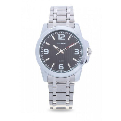 Valentino 20121954-BLACK SILVER STAINLESS BAND Watch For Men